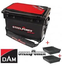 Коробка DAM STEELPOWER RED BEACH BOX WITH TWO SIDE TRAYS